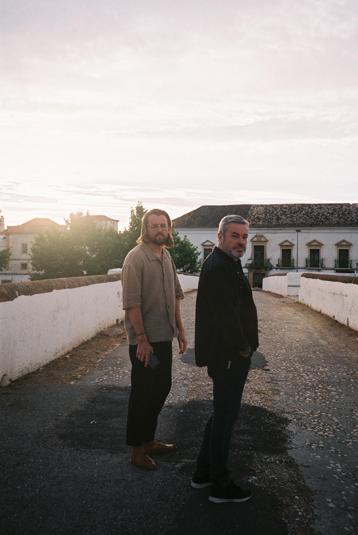 Martin and my father in Silves.  / O Martin e o meu pai em Silves.