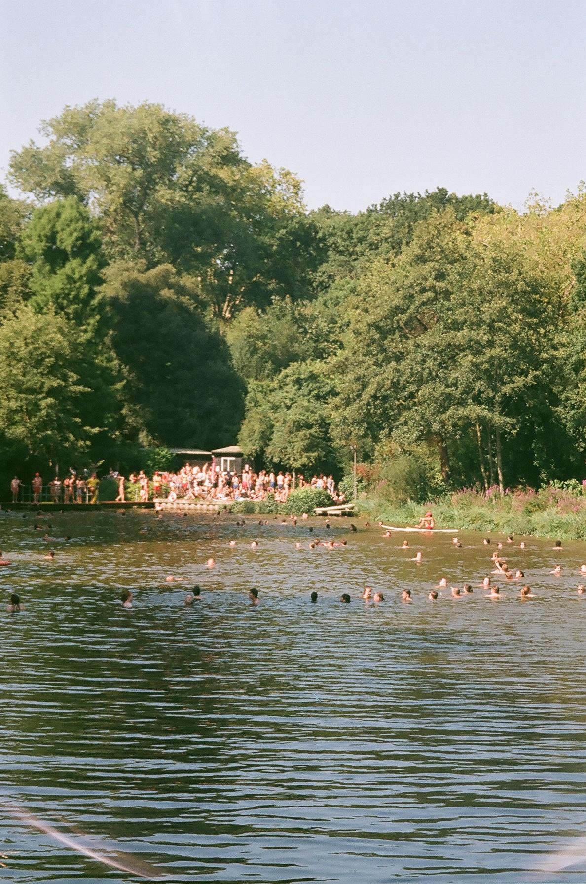 Hampstead Heath Ponds. I still have never swam in here, it freaks me out that I can't see the bottom.  / O lago de Hampstead Heath. Nunca fui capaz de lá nadar, faz-me confusão não conseguir ver o fundo.
