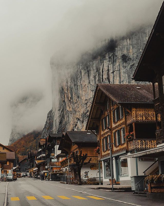 A ski village right up against the mountains...this is why Switzerland is one the coolest places out there.