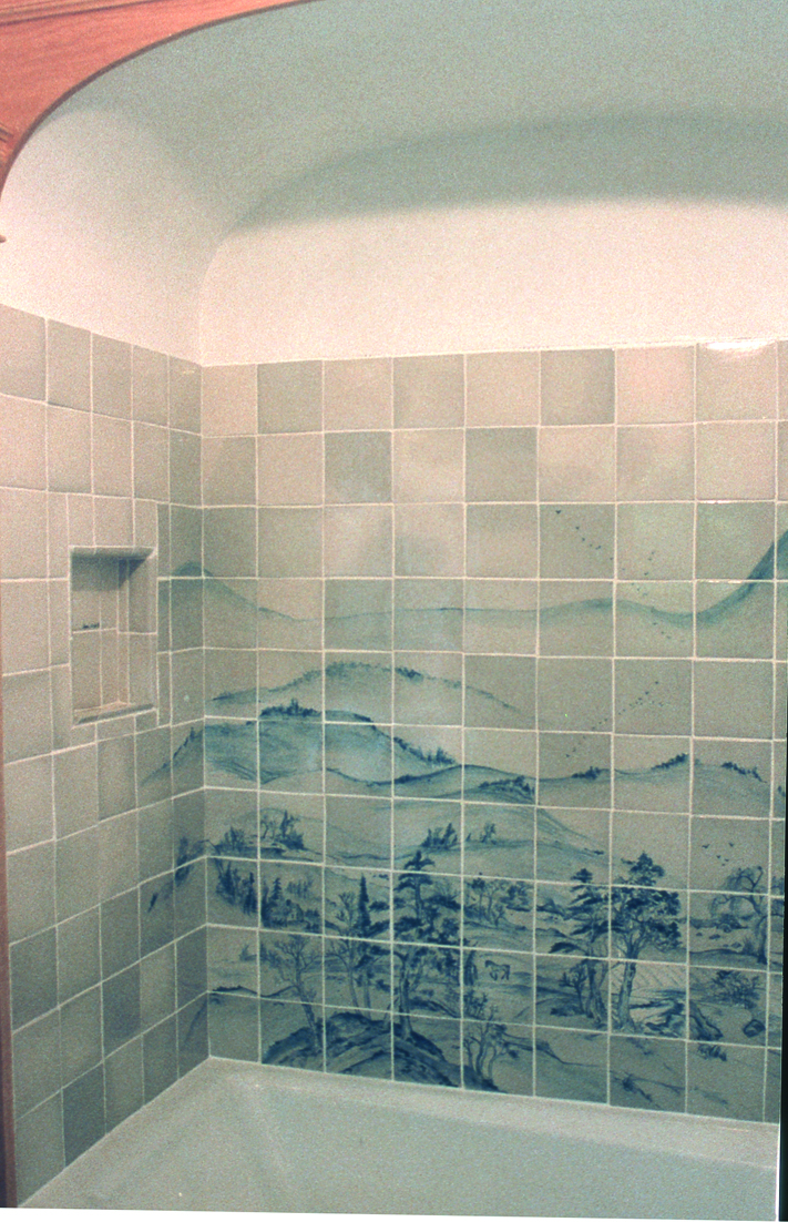 Tub and Shower Custom Tile Mural