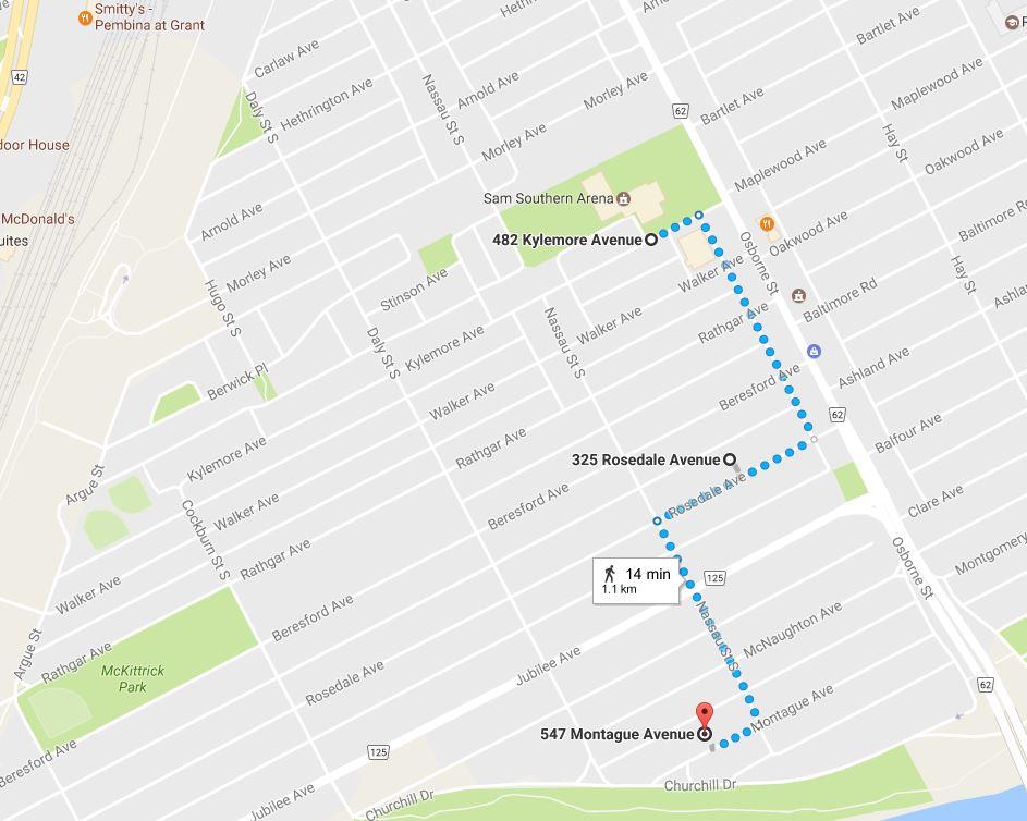 Walking Tour Route