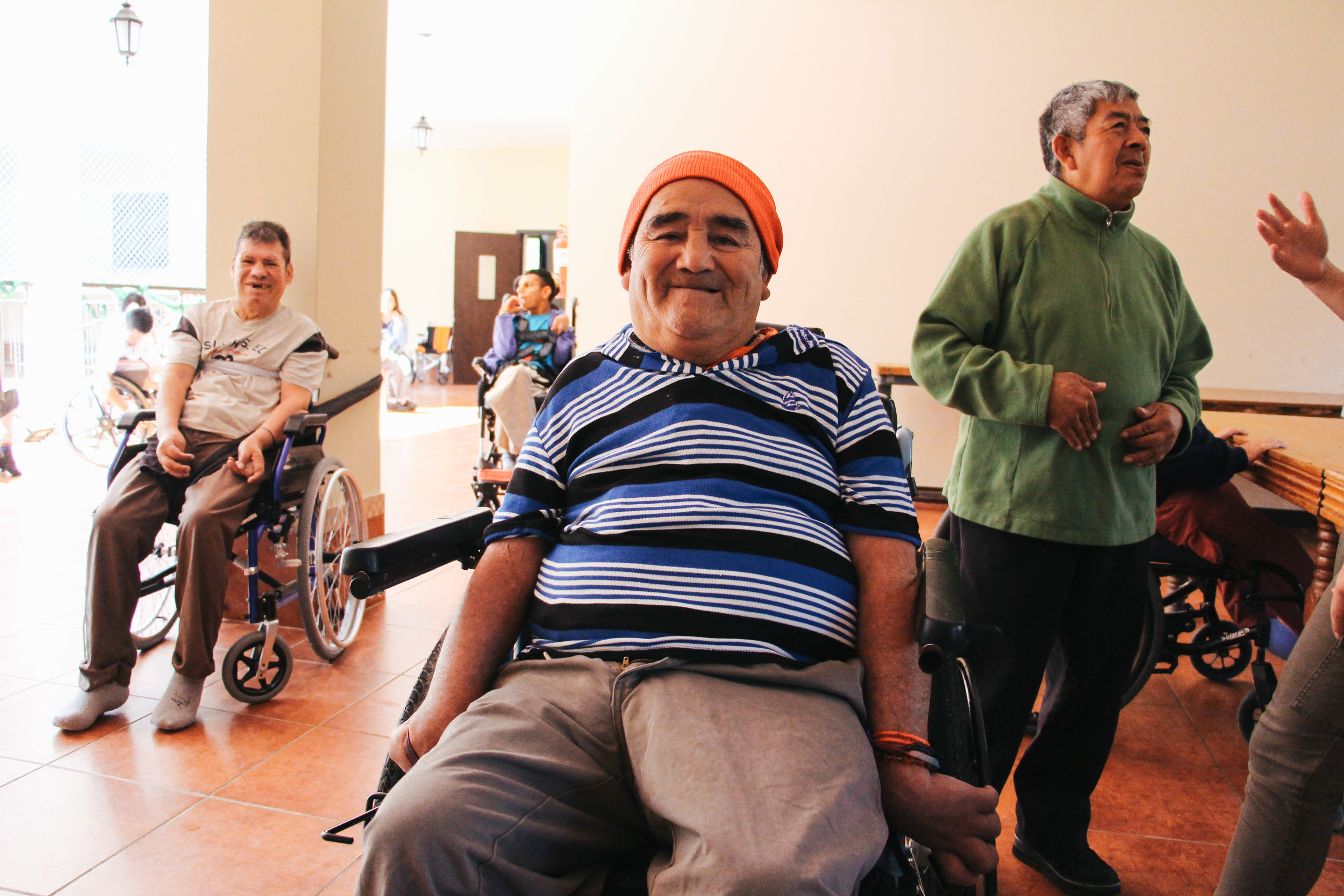Photo by Miranda Weippert ALFREDO MARIN, 67, POSES FOR THE CAMERA WHILE SITTING NEAR THE DINNER TABLE AT VIRGEN DEL SOCORRO JAN. 16. VIRGEN DEL SOCORRO HAS 239 RESIDENTS, WITH THE CAPABILITY TO HOST 11 MORE.
