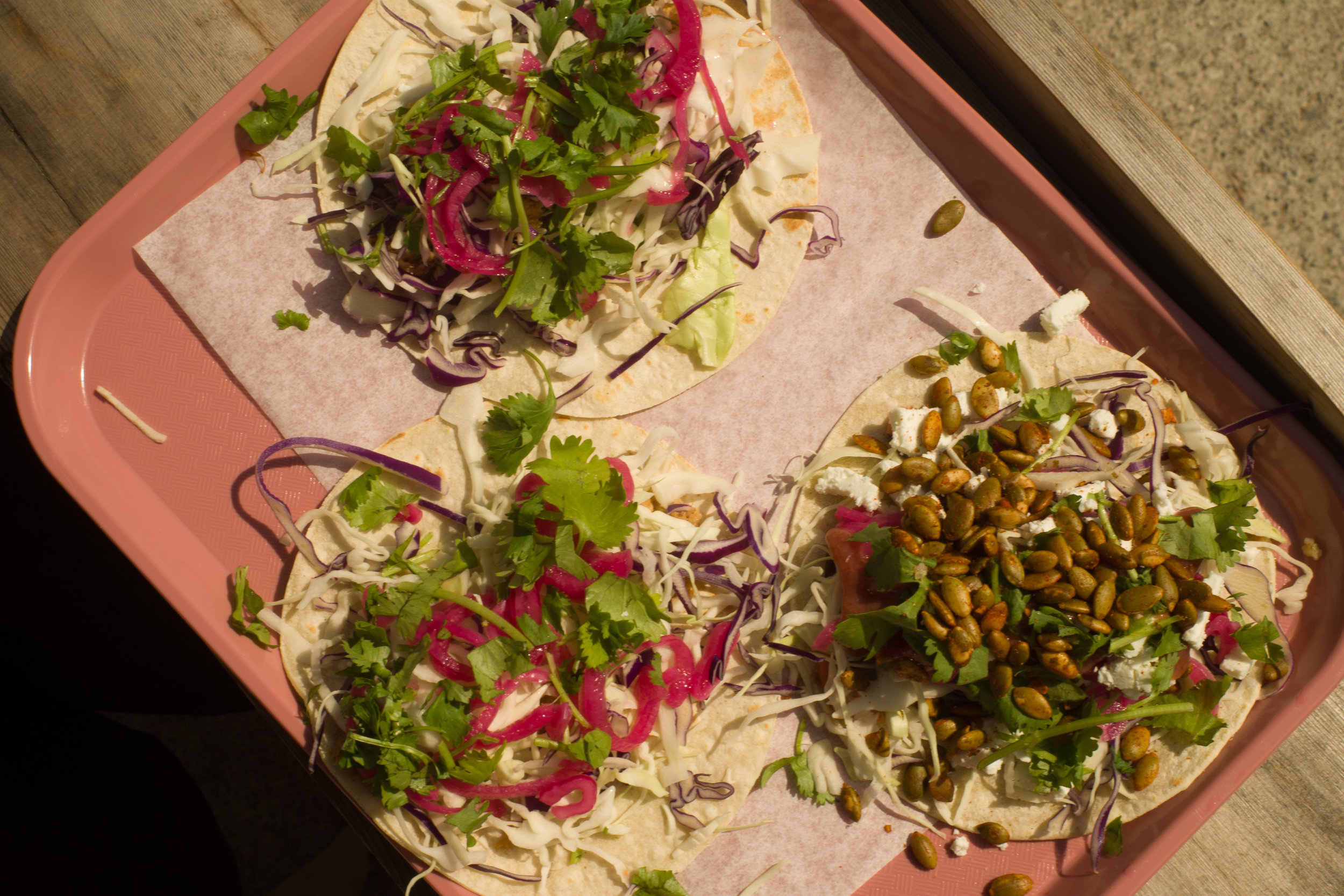 Tacos from Branch upon our arrival.