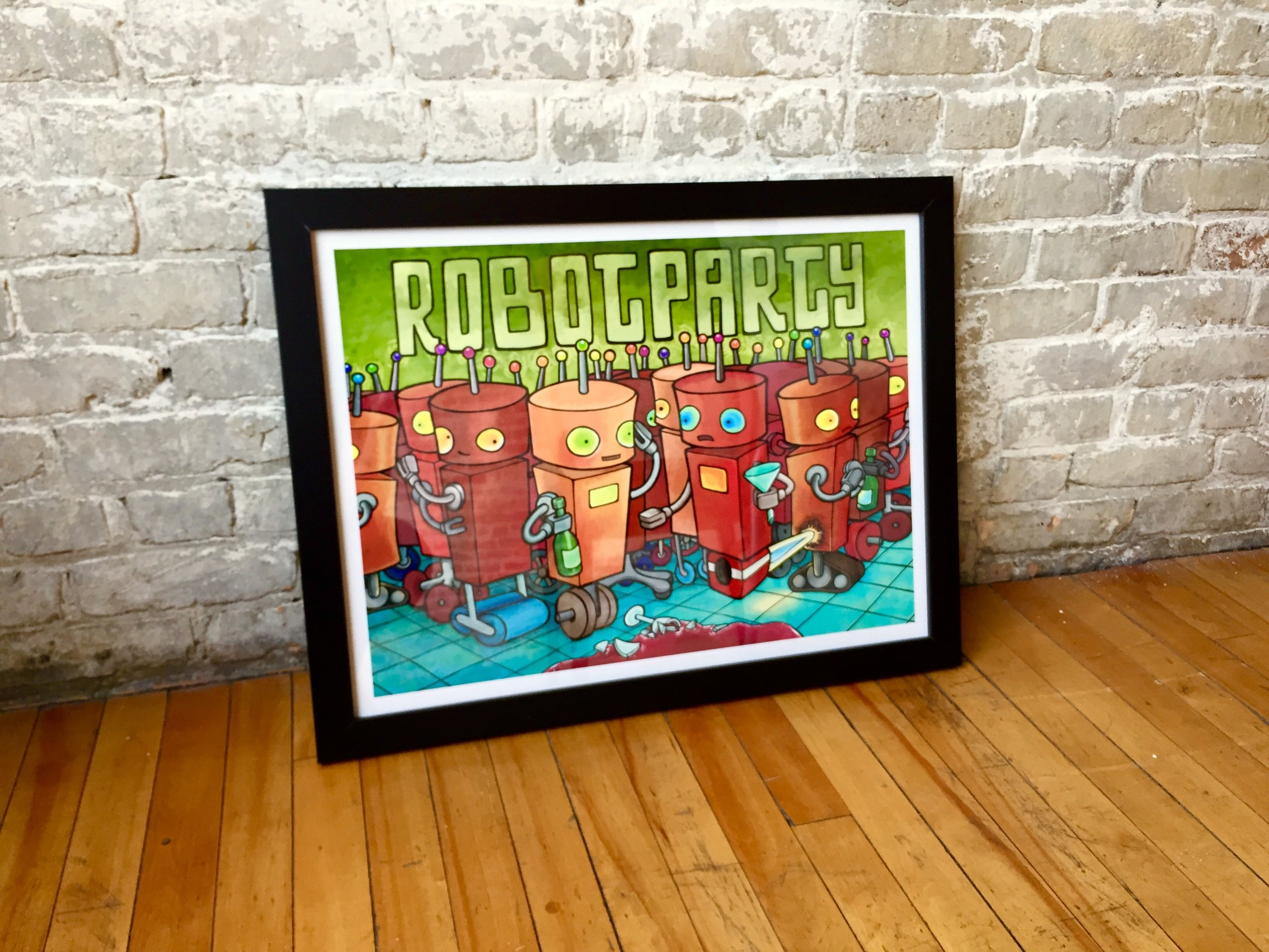 RobotParty-18x24-framed.jpg