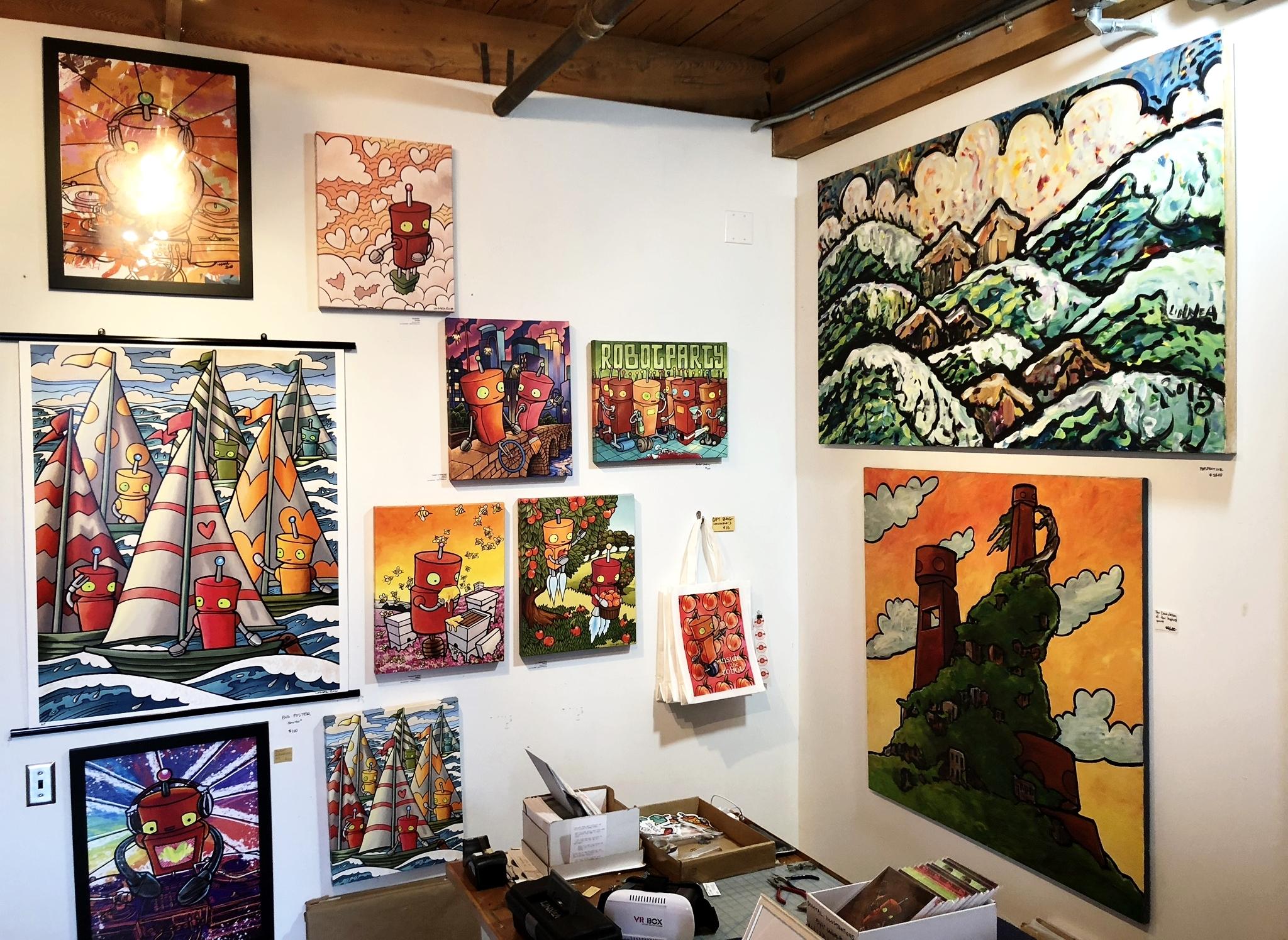 A little corner of Studio 317.