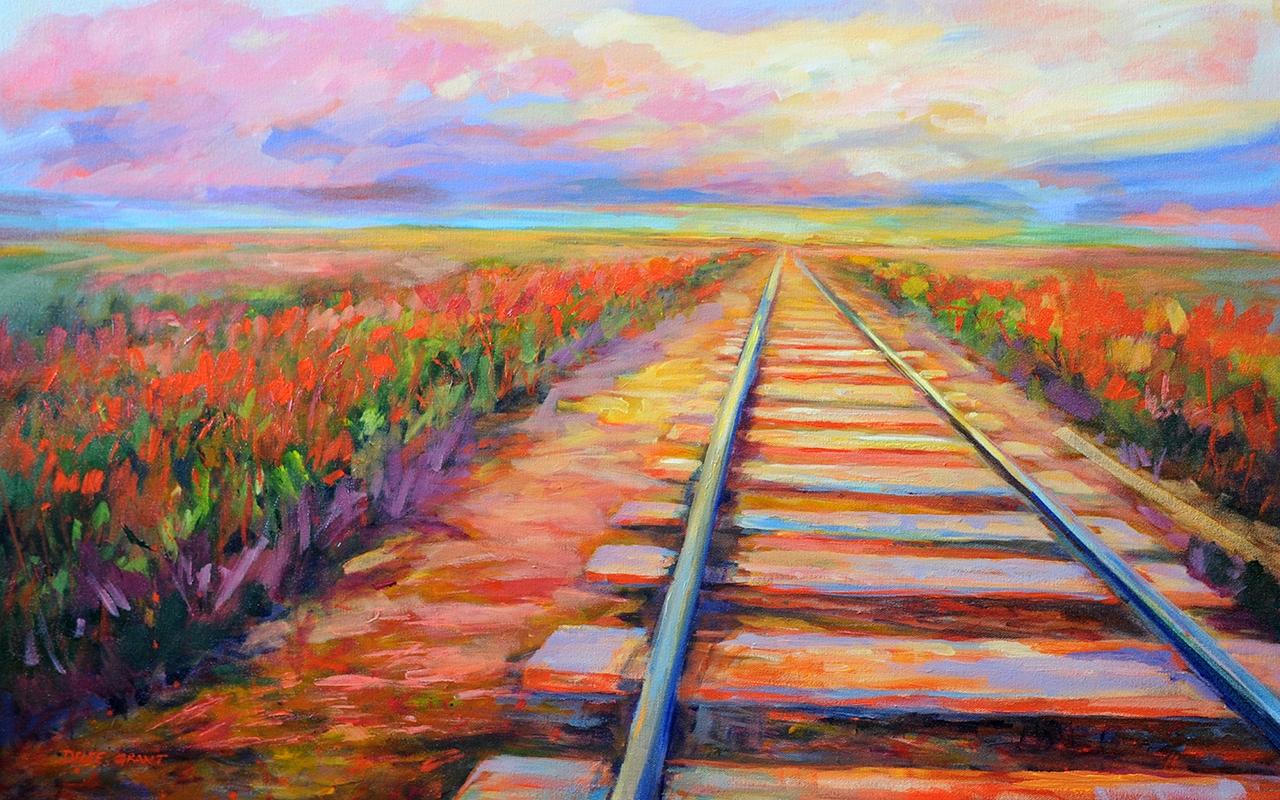 """Facing West"", acrylic, 24x36"