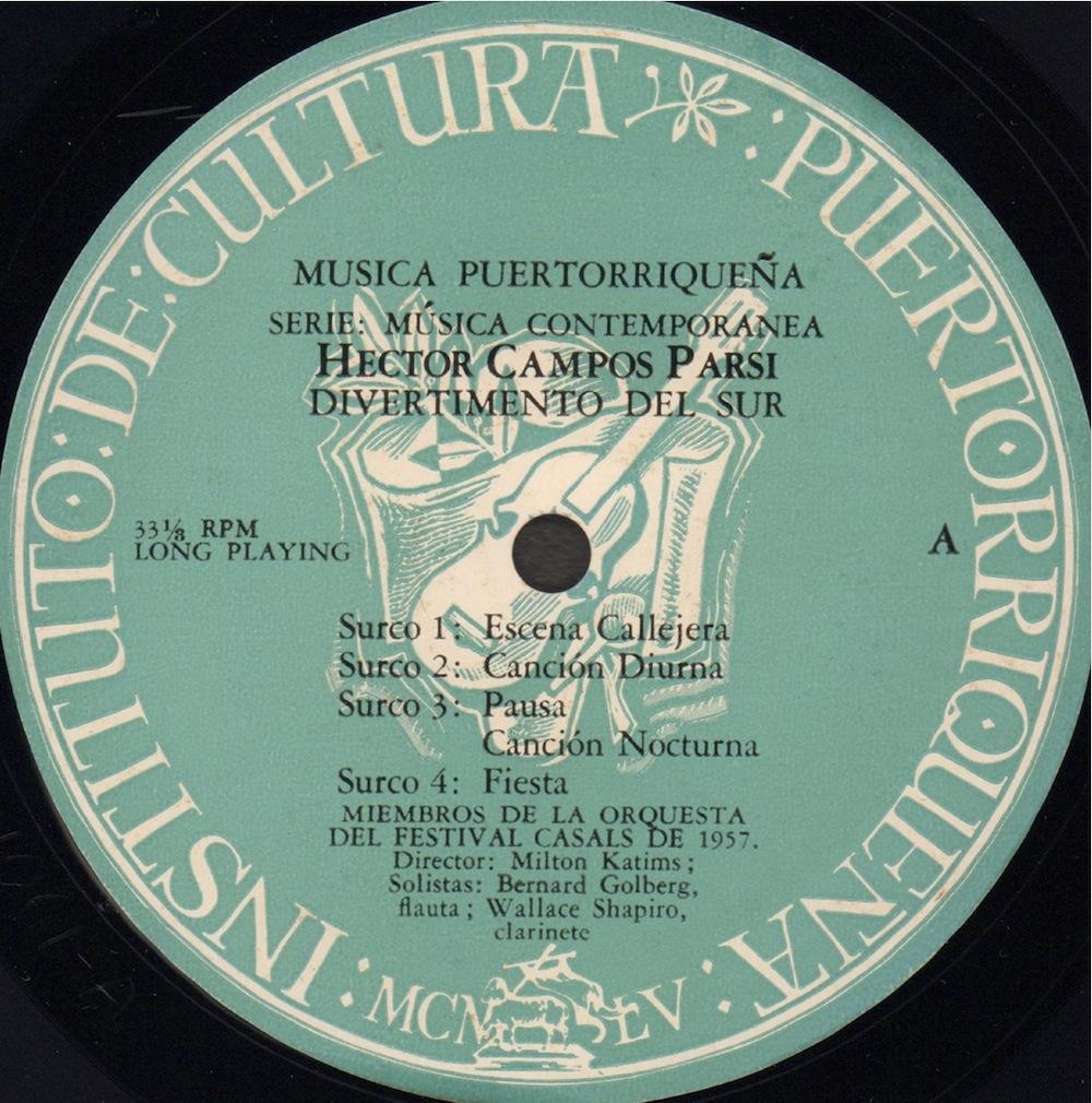 Héctor Campos Parsi - Divertimento del Sur / Sonata en Sol para piano