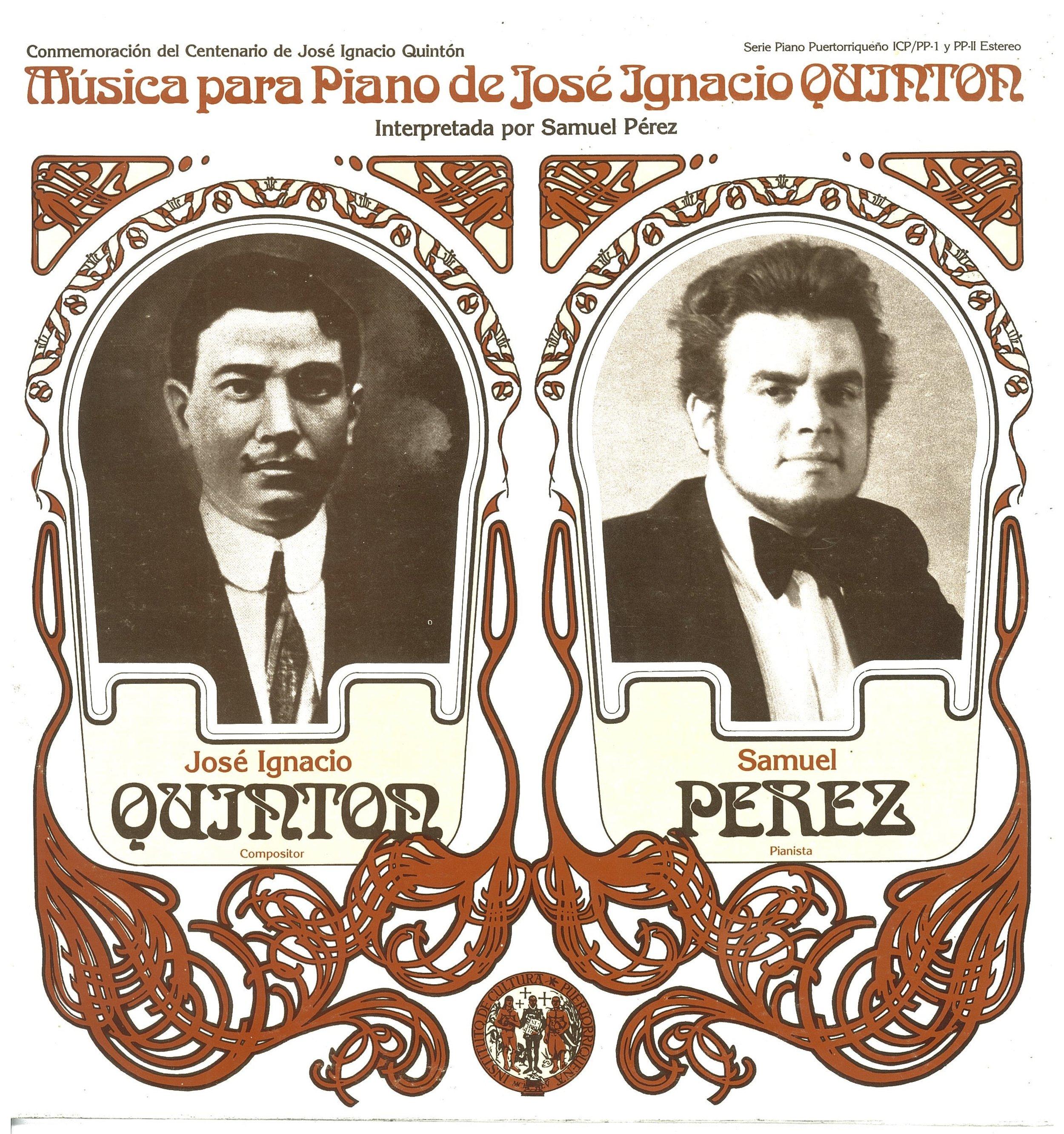 Música para Piano de José I. Quintón interpretada por Samuel Pérez