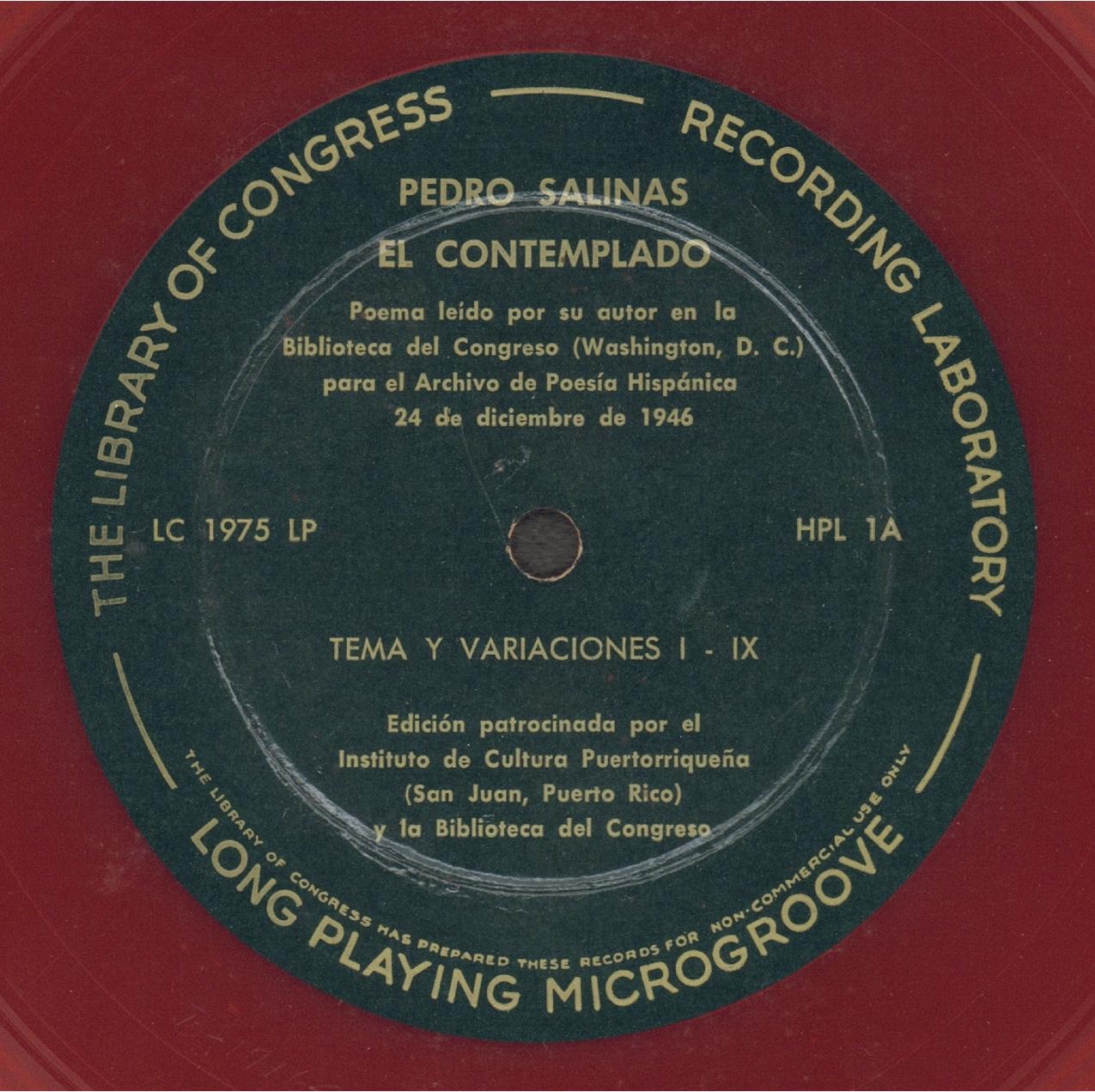 El Contemplado de Pedro Salinas