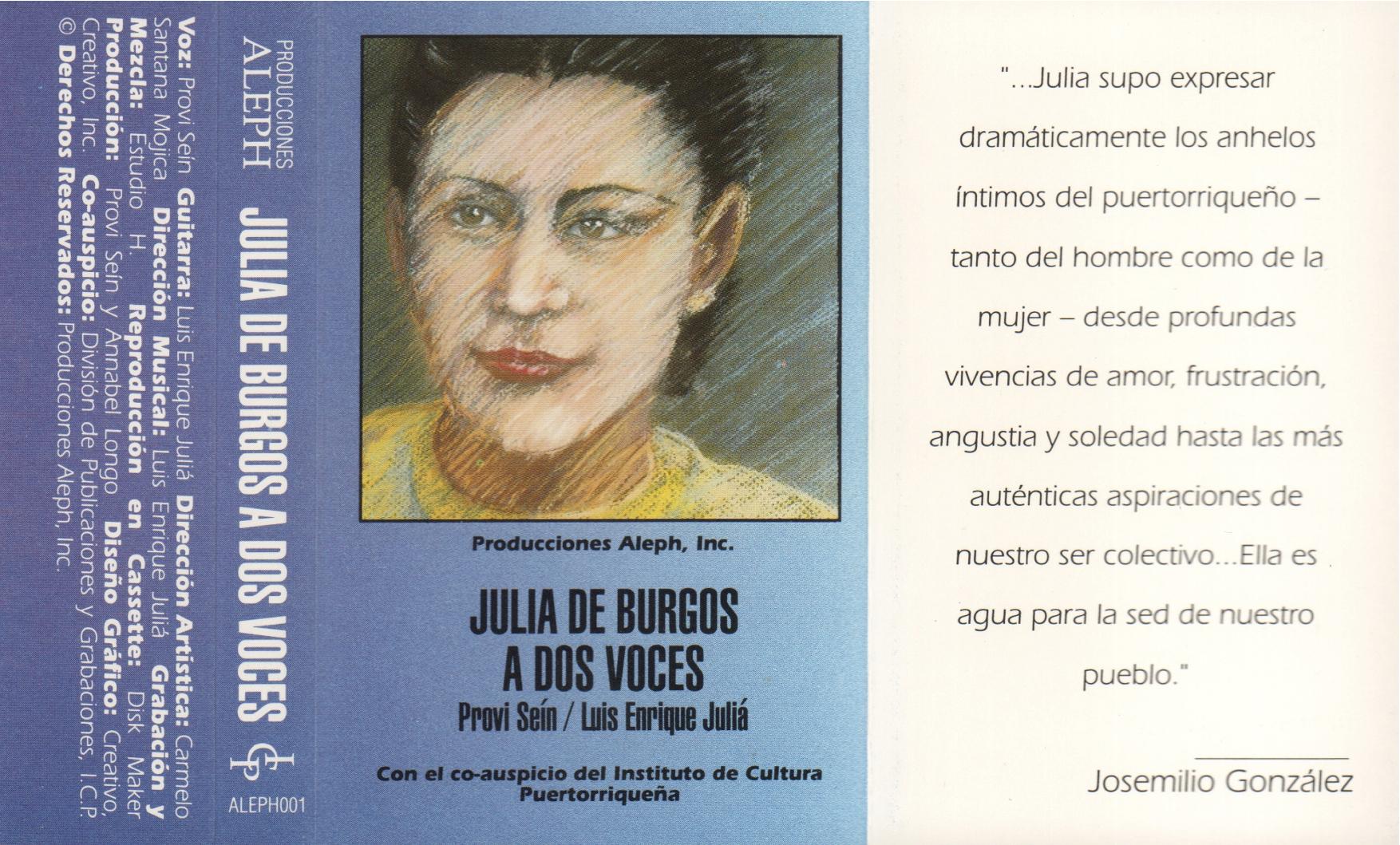 Julia de Burgos - A dos voces/ Producciones Aleph
