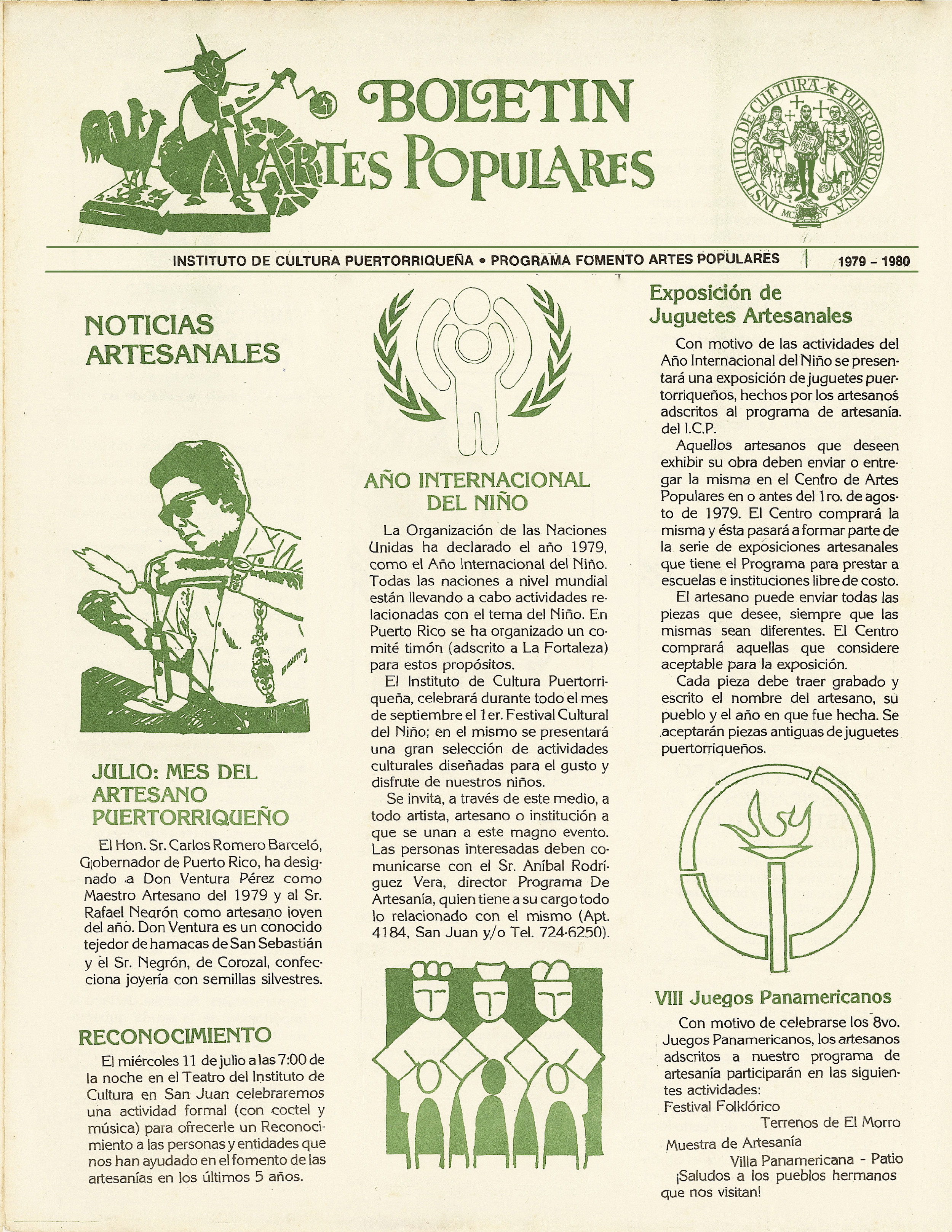 Boletín de Artes Populares, Suplemento Especial | 1979 - 1980