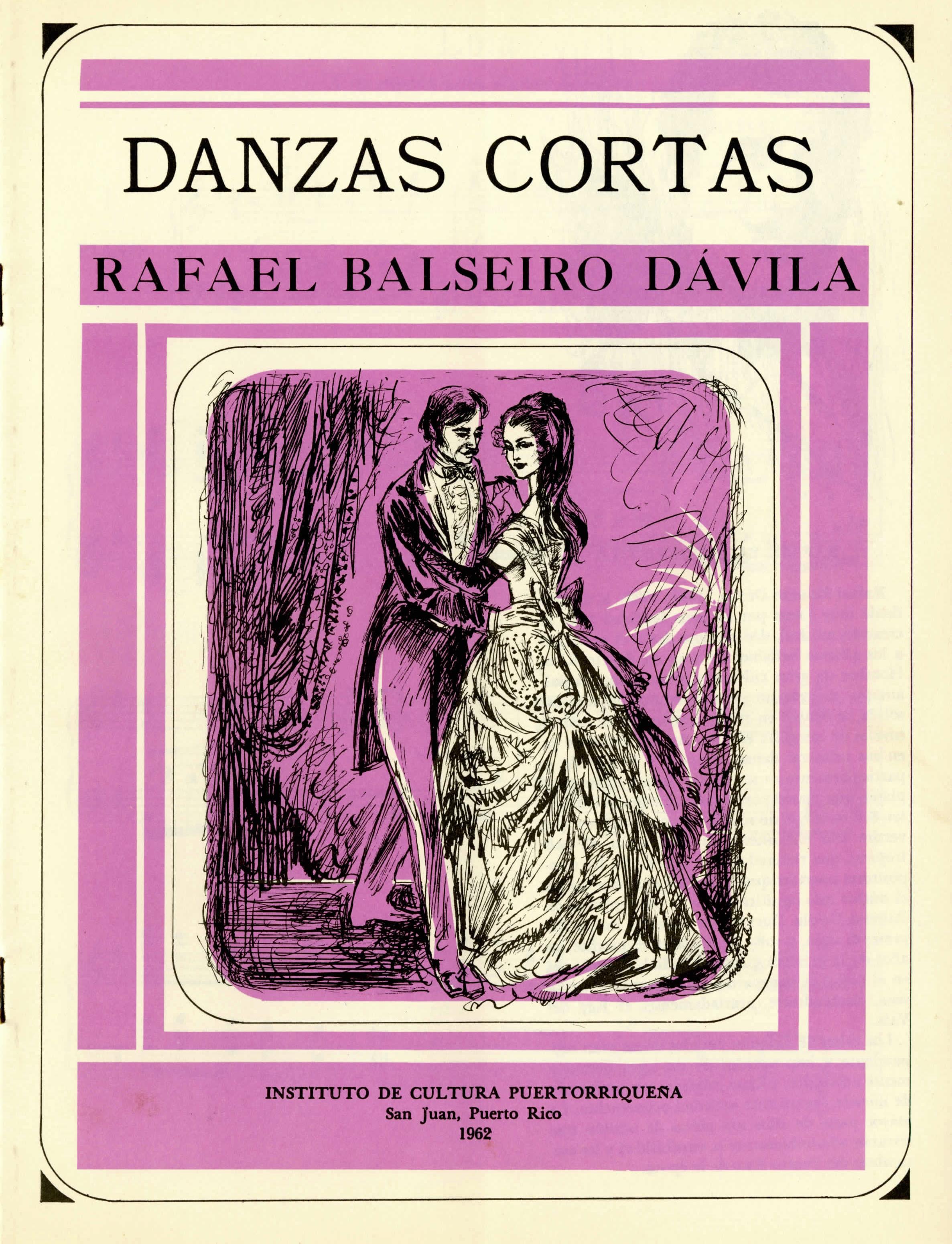 """- Separata.""""Cuatro Danzas Cortas""""RICP, primera serie, núm. 15, 1962."""