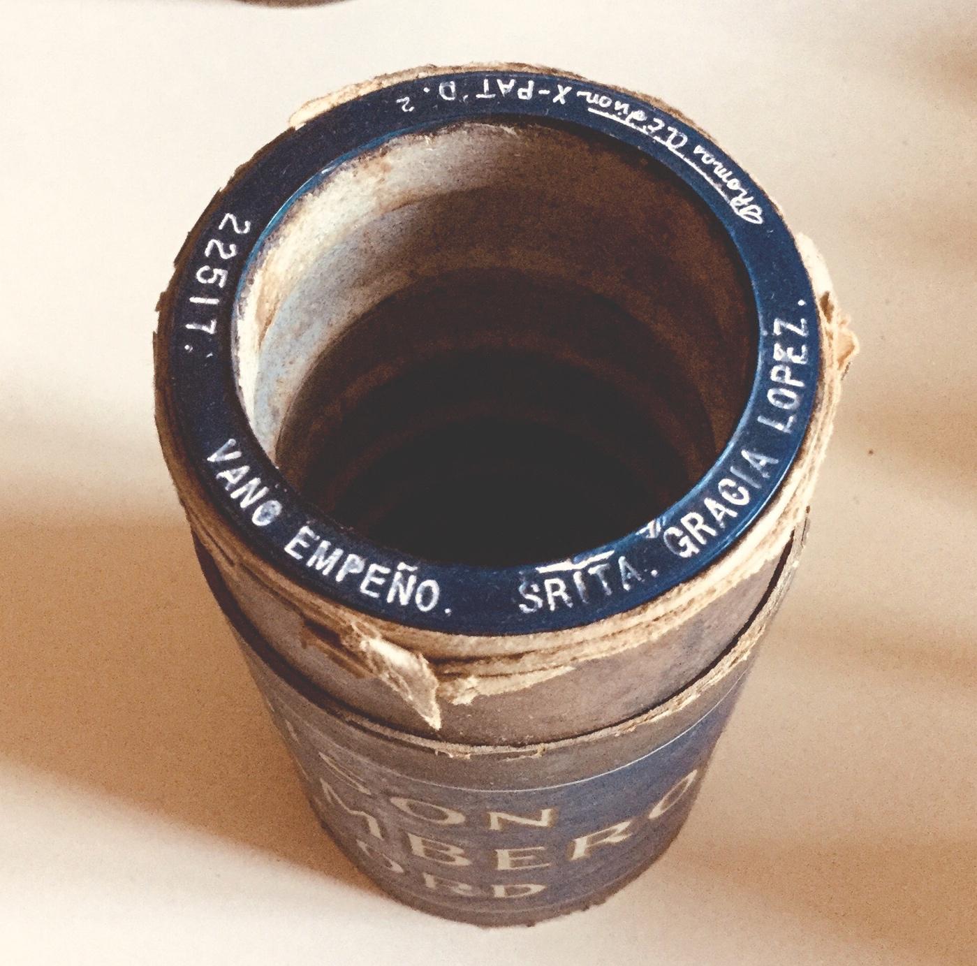 Cilindros de Amberol Azul