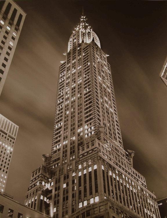 TOM BARIL,  Chrysler Building at Night , 1997