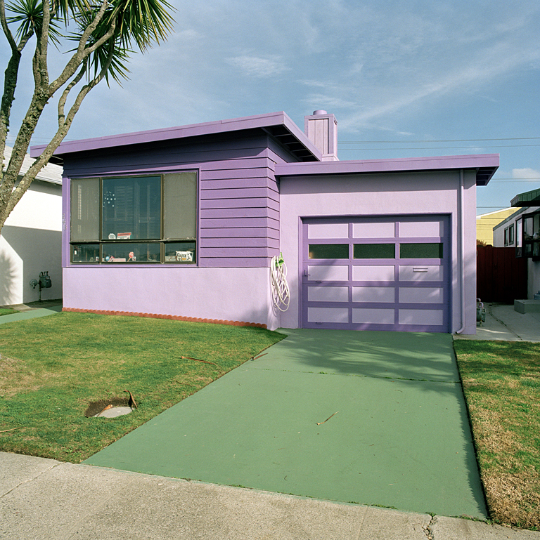 JEFF BROUWS,  Hyacinth, Daly City, California  (from the series Freshly Painted Houses), 1991