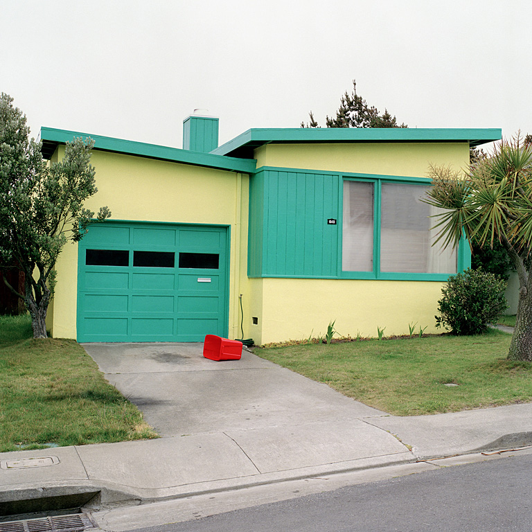 Jeff Brouws,  Tango Blue, Daly City, California  (from the series Freshly Painted Houses), 1991