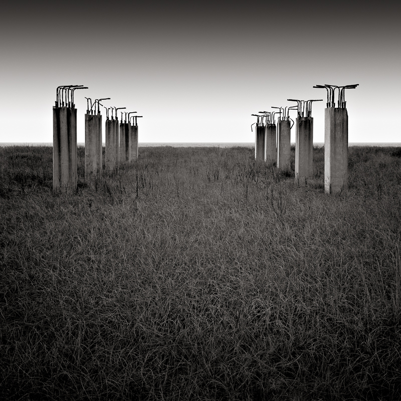 DAVID FOKOS   Unfinished Pier, San Luis Pass, Texas, 2005