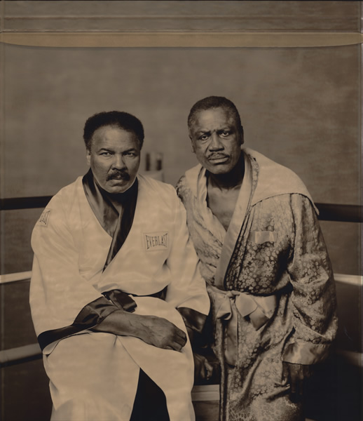 WALTER IOOSS    Ali and Frazier, Philadelphia, PA, 2003