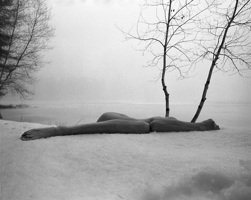 ARNO RAFAEL MINKKINEN  Self-portrait, Two Birches, Foster's Pond, 2005