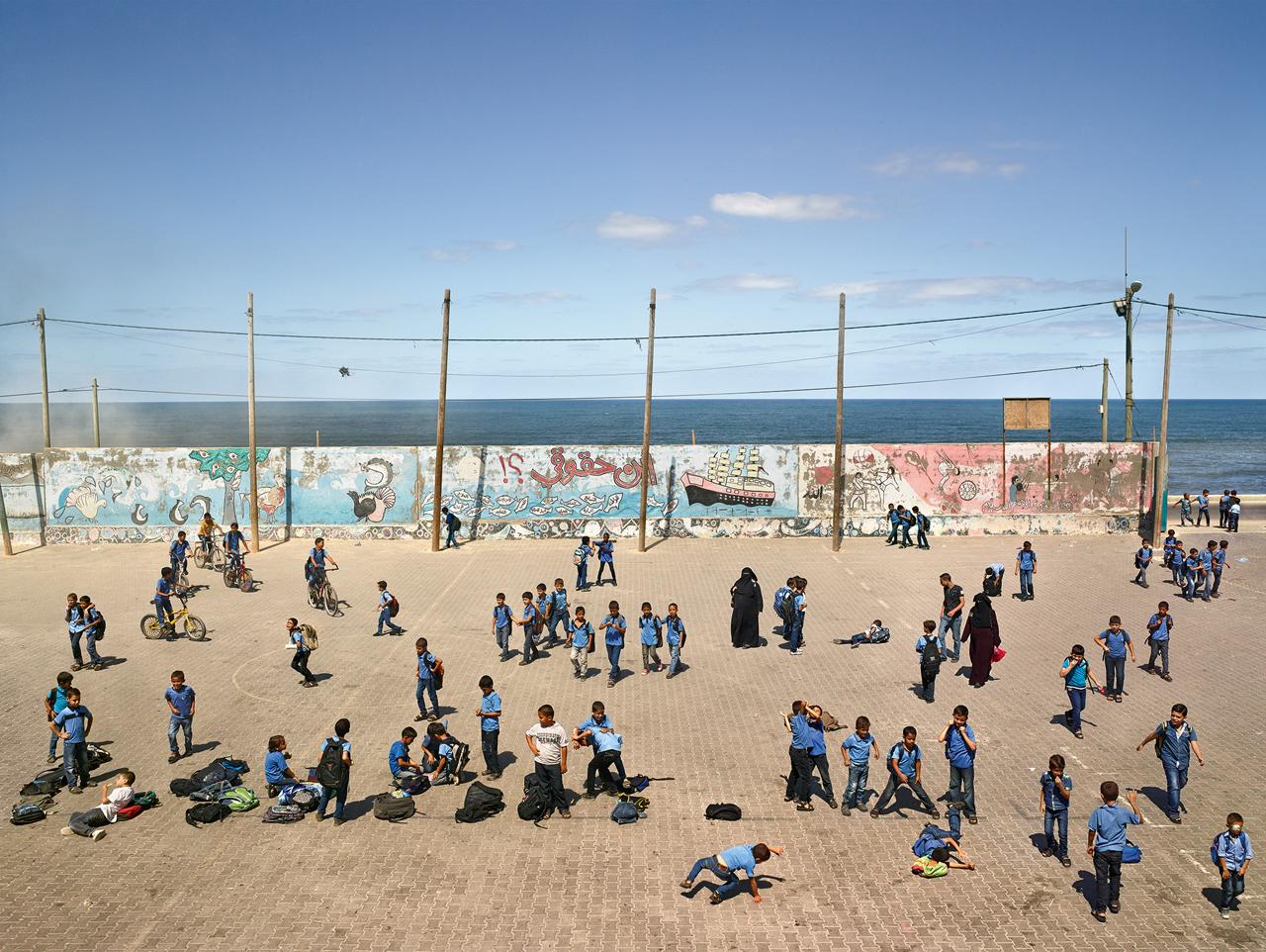 JAMES MOLLISON,  Deir al-Balah Boys' Elementary, Middle Area, Gaza,  September 16, 2013