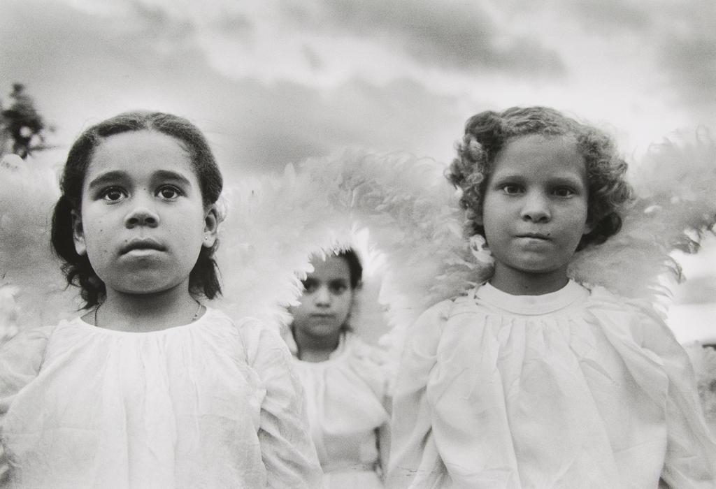 SEBASTIÃO SALGADO Three Communion Girls, Brazil, 1981