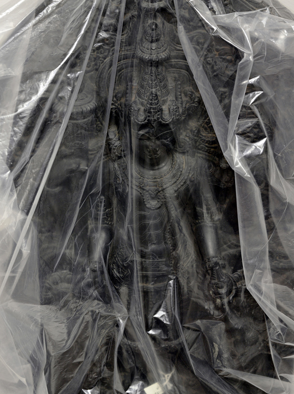 GREGORY VERSHBOW,  Receding Statue,  (from the series Art in a Liminal Space), 2013