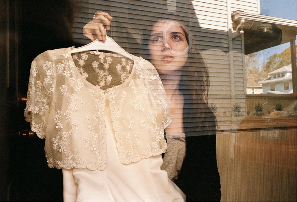 REBECCA NORRIS WEBB 14621 Neighborhood (Amanda and Her Flower Girl Dress), Rochester, New York (from the series Memory City), 2012