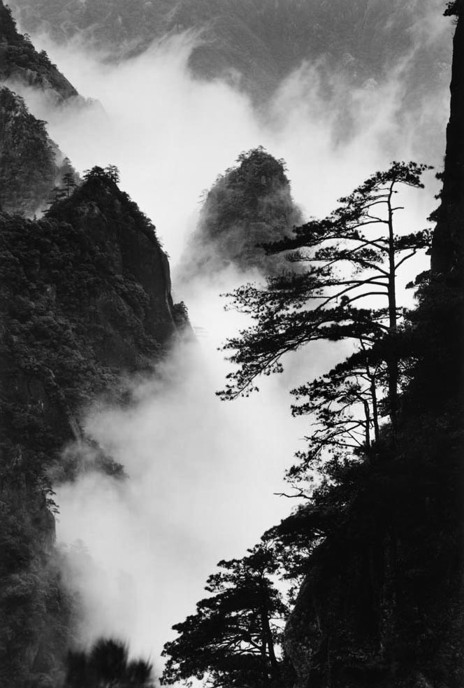 WANG WUSHENG Peaks and Clouds in Valley, Taken at Heavenly Sea New Path, June 2004