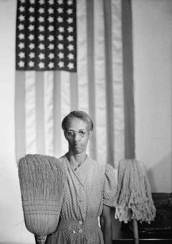 GORDON PARKS,  American Gothic, Washington, D.C.,  1942