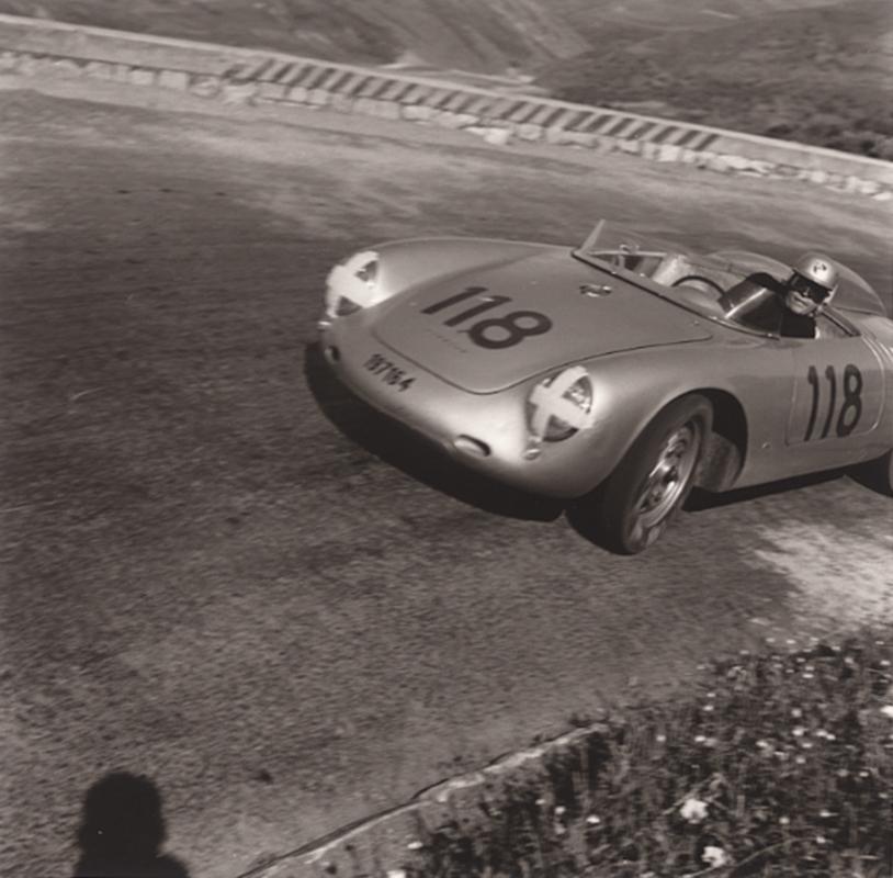 JESSE ALEXANDER, Herbert Linge, Porsche RSK , Targa Florio, Sicily, Italy, 1959