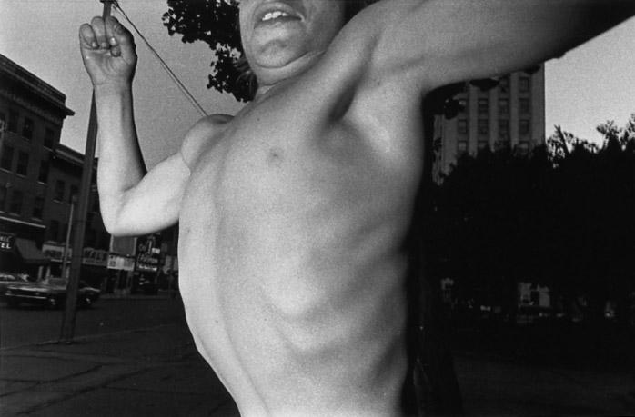 MARK COHEN,  Untitled (Boy Posing on Square) , 1974