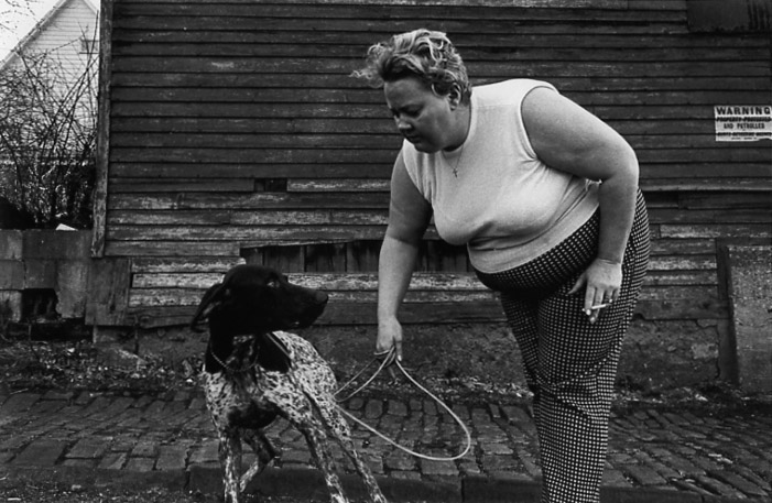 MARK COHEN Untitled (Woman and Dog), 1976