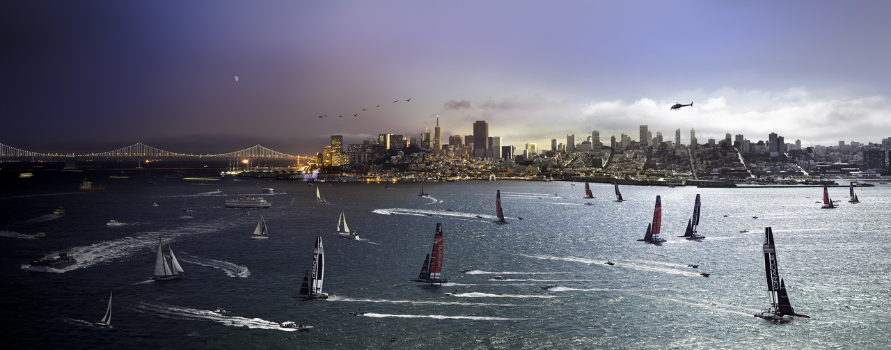 STEPHEN WILKES America's Cup, San Francisco (from the series Day to Night), 2013