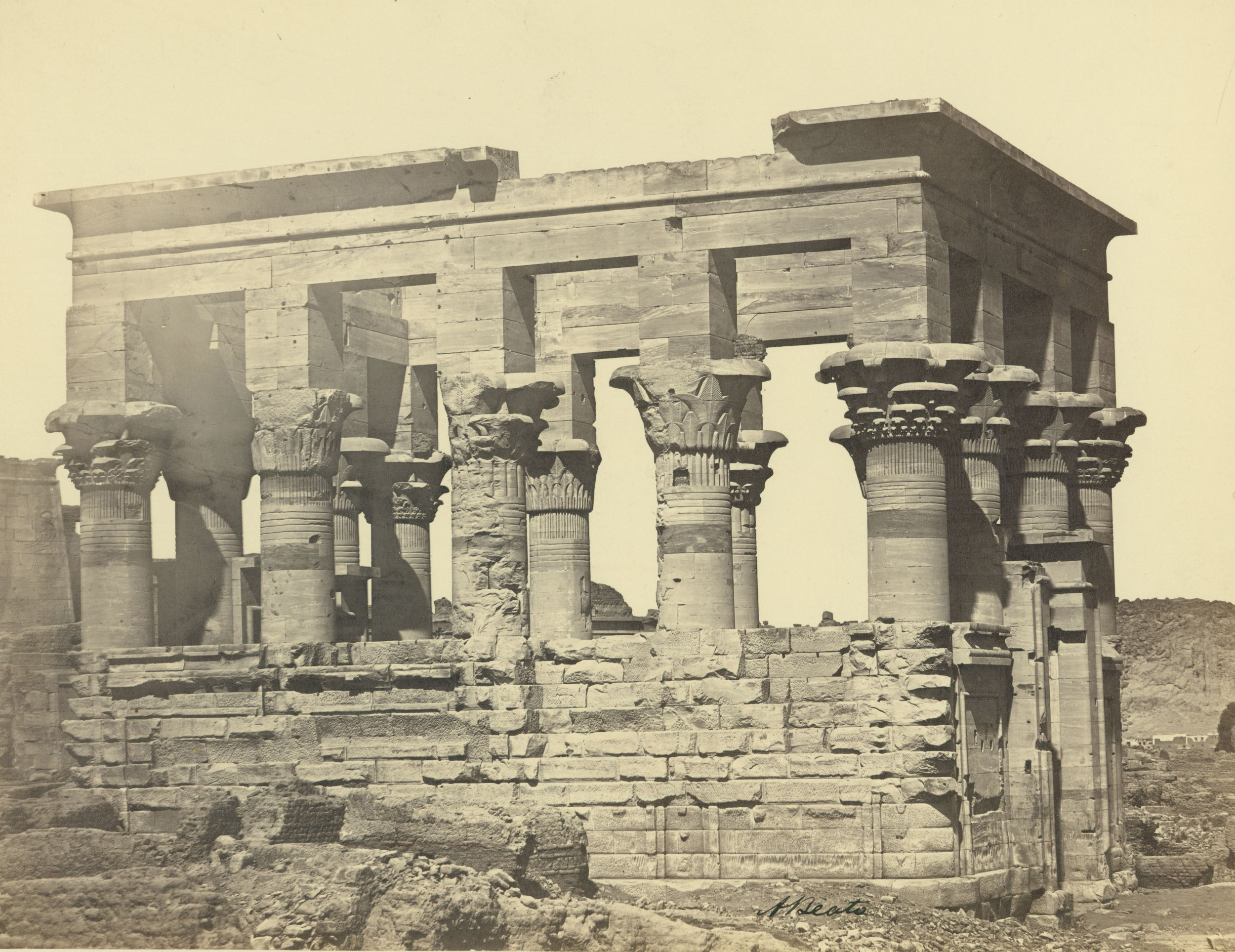 ANTONIO BEATO,  Trajan's Kioski, or Pharaoh's Bed,   Island of Philae, Egypt  c. 1887