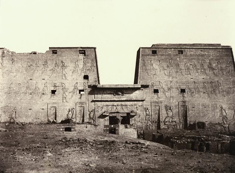 LOUIS DECLERCQ,  V-9, Edfou ,  Grande Facade des Ruines,  c. 1860