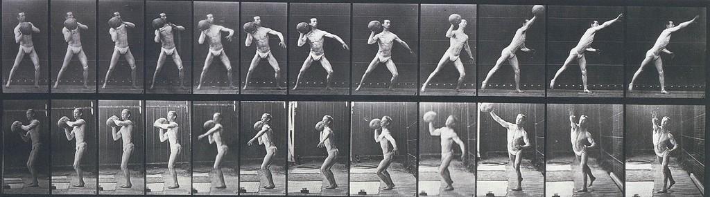 EADWEARD MUYBRIDGE Animal Locomotion, Plate 319 (Man Throwing a Medicine Ball), 1887