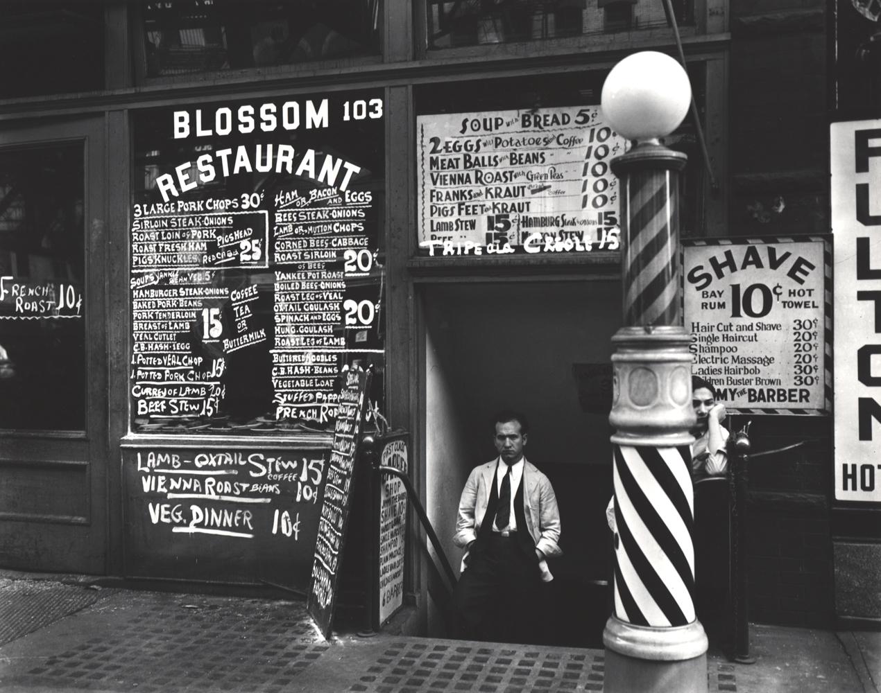 BERENICE ABBOTT,  Blossom Restaurant ,1935