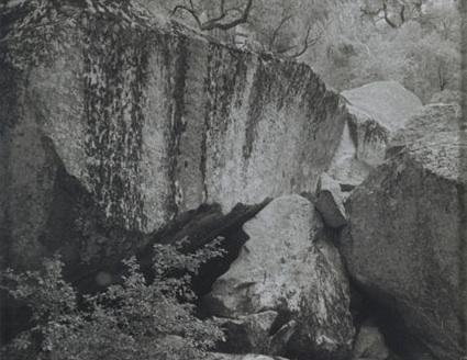 ANSEL ADAMS,  Fallen Rock ,  Yosemite ,  California,  c. 1962