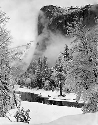 ANSEL ADAMS,  El Capitan, Winter ,  Yosemite National Park, California,  c. 1940s