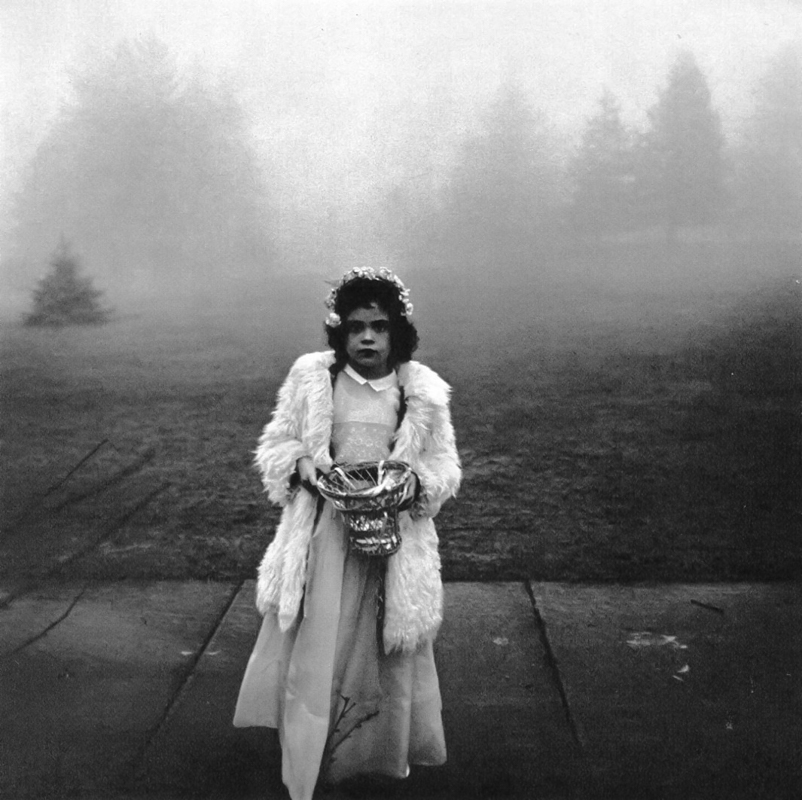 DIANE ARBUS,  A Flower Girl at a Wedding, Conneticut , 1964