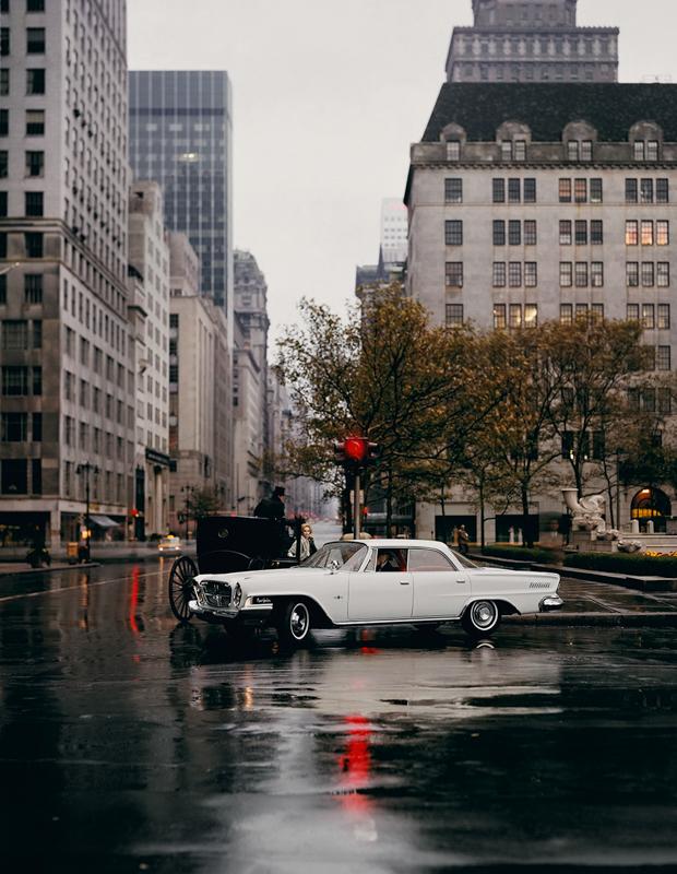 WILLIAM HELBURN,  Chrysler New Yorker,   Fifth Avenue, New York,  1962