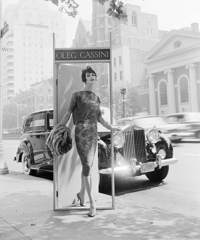 WILLIAM HELBURN,  Oleg Cassini ,  Park Avenue, New York City , 1958