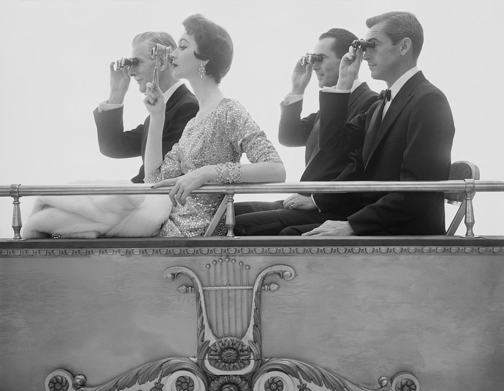WILLIAM HELBURN,  Opera Box   (Dovima),  c. 1961