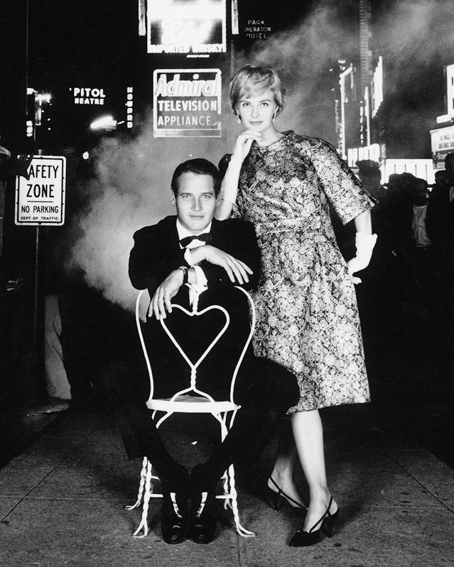 WILLIAM HELBURN,  Woodward in Times Square #2  (for Town and Country), 1960