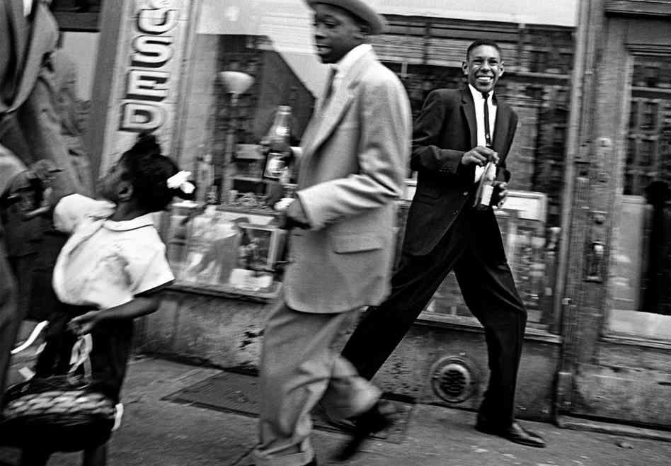 WILLIAM KLEIN,  Horsing Around + Pepsi ,  Harlem, New York , 1960