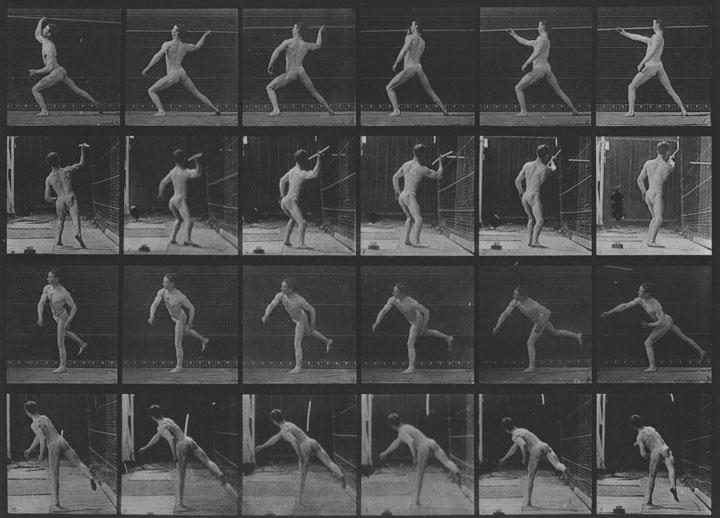 EADWEARD MUYBRIDGE, Animal Locomotion, Plate 360 (Javelin Thrower), 1887