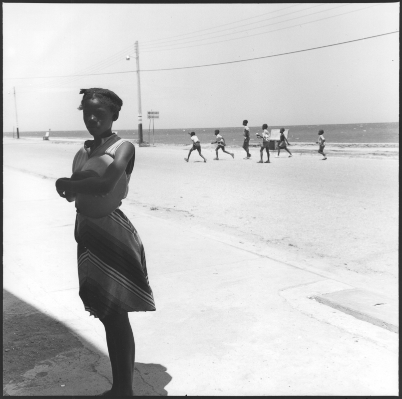 DANNY LYON,  A Girl at The Ocean ,  Cap-Haïtien, Haiti,  1983