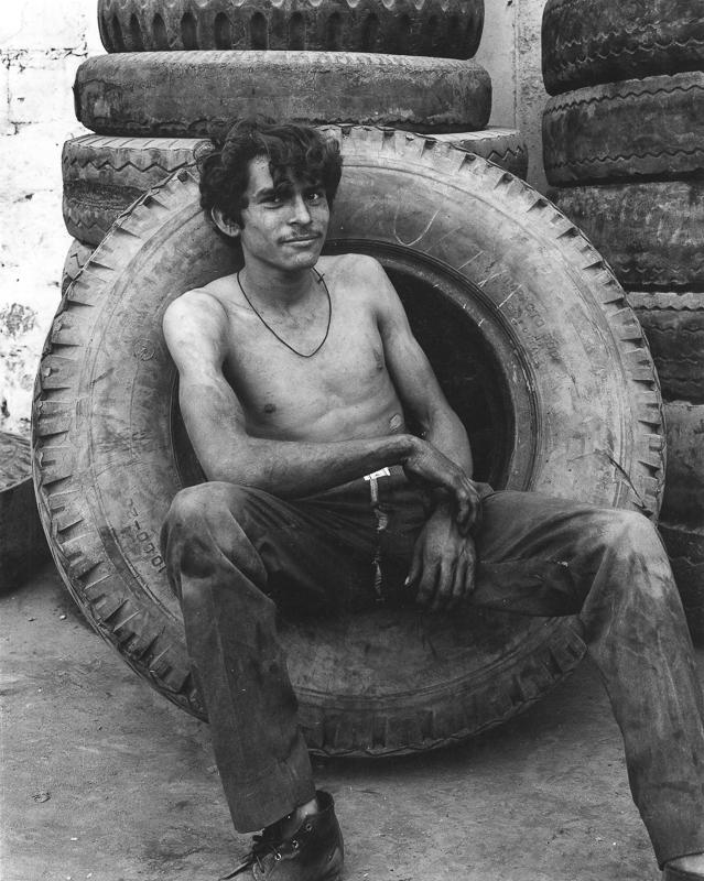DANNY LYON,  Tzamunchale (Boy in Tire), Mexico,  1973
