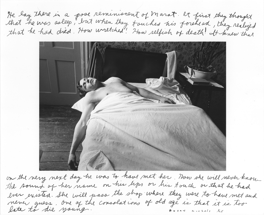 DUANE MICHALS,  He Lay There  (Marat), 1974