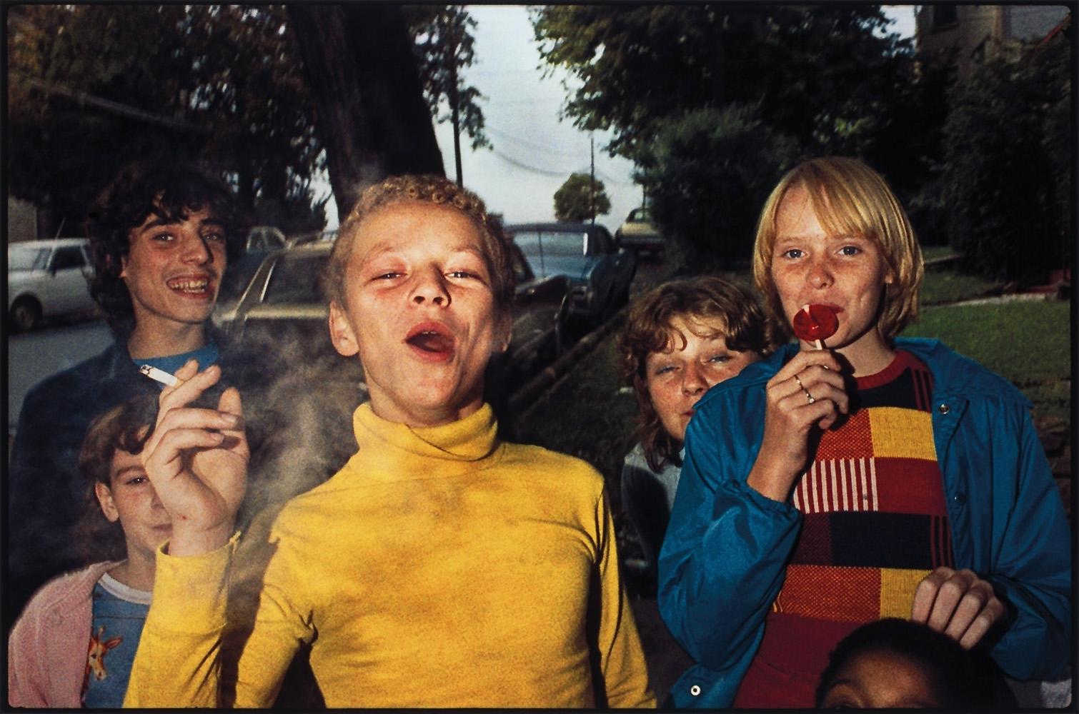 MARK COHEN,  Untitled (Boy in Yellow Shirt Smoking), Scranton, Pennsylvania,  1977